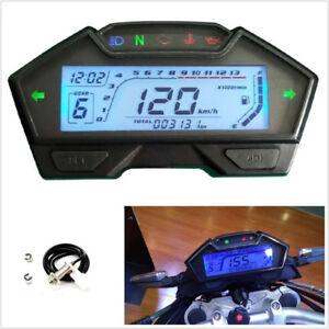 13000RPM 9-16V Motorcycle LCD Digital Speedometer Odometer Gear Indicator Meter