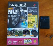 8mb GENUINE MEMORY CARD + PLAYSTATION 2 Official Mag - UK DEMO DISC 77
