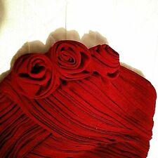 MAKE AN OFFER! PAIR Bridesmaids Red Rose Dress-16-Wedding Dress Match