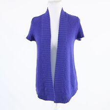 Purple 100% cotton chunky knit ANN TAYLOR LOFT cap sleeve shrug sweater XS