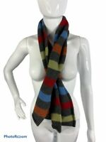 """GAP Scarf Unisex Multicolored Striped Lamb's Wool Knit 62""""X 7.5"""" Rectangle"""