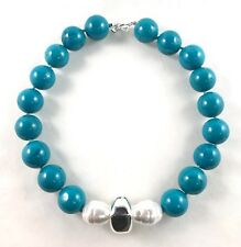 Simon Sebbag Sterling Silver turquoise w/ shell pearl necklace NB44TQ/BSP