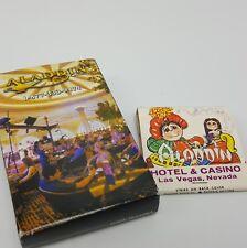 Aladdin Casino Las Vegas playing Cards Matchbook Lot
