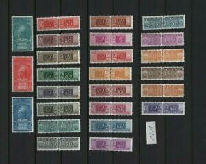 kleines lot von 25 briefmarken,international,italien,ohne stempel,gummiert