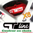 6 Stickers GT line pour étriers de frein - autocollant renault clio twingo - 160