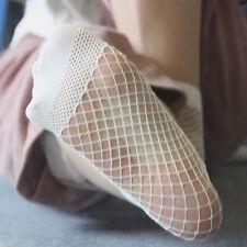 2Paar Damensocken Ruffle Fishnet Mesh Ankle Socken Fischnetz Socks Punk Niedlich