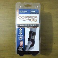 Copper Fit Compression Wrist Brace S/M Left Hand Stabilizer Relief Men Women