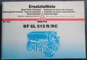 Deutz Schlepper BF 6L 513 R / RC Motor-Ersatzteilliste