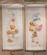 Stickpackung, Oehlenschläger, Kreuzstich, Geburt, Junge, Mädchen, sticken, 14x32