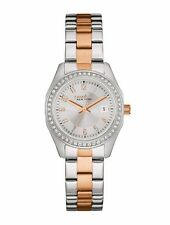 Caravelle New York Women's 45M108 Boyfriend Crystal Accents Two-Tone 28mm Watch