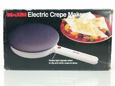 """Maxim Electric Crepe Maker Non-Stick CM-5 w/Ready Light 7-1/2"""" Diameter"""