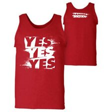 """SALE WWE WWF Daniel Bryan """"YES YES YES"""" Tank Top New Size Large Red Mens"""