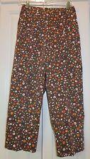 TALBOTS WOMEN'S BROWN multi-color Cotton/Spandex Capris/Cropped Pant Size 6