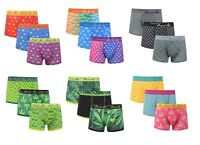 Men's Weeds leaves Cotton Rich Underwear Trunks Boxer Shorts Hipster Pack of 3