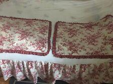 Vintage Laura Ashley Rose Cream Full Bed Skirt & Pillow Sham set shabby chic