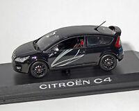 """Citroen C4 Coupe """" par Lagrow """", Noir-Métallique, Norev 1:43"""