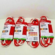 4 Outdoor Hyper Tough 9-Foot Candy Cane Striped 3 Outlet Extension Cord 16 gauge