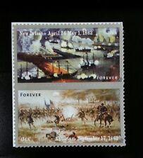 2012 45c The Civil War 1862 New Orleans & Antietum Scott 4664-65 Mint F/VF NH