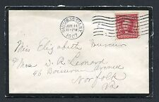 *PJ's Mourning Cover From Madison Sq. Sta, NY- sealed with imprinted wax-Look!