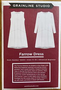 Grainline Studio Sewing Pattern 13003 Farrow Dress US Sizes 0-18