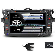 "For Toyota COROLLA 2007-2011 8"" GPS Navigation Car Stereo CD DVD Player Radio"