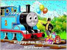 "Thomas The Tank Engine Personalised Cake Topper Edible Wafer Paper A4 7.5"" By10"""