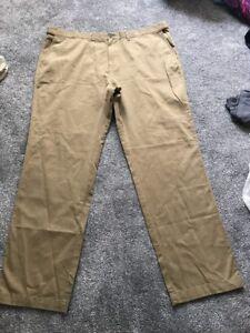 M&s Men Stone  Regular Fit Active Waist Trousers W48 L33 Bnwt Sameday Free P&p