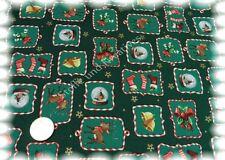 Adventsfenster Weihnachtsstoff gruen Baumwolle 50 cm Winter Nähen