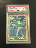 1987 Topps Mark McGwire #366 Oakland Athletics PSA 8 NM-MT