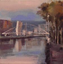 PIntura * Acrílico * Puente Calatrava , Bilbao* Pintura * Original Painting