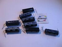Electrolytic Capacitor Nichicon 470uF 25V Axial Trimmed Formed Leads - NOS QTY 8