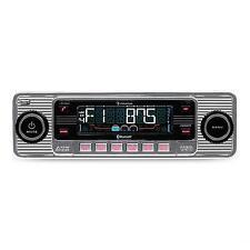 Autoradio USB Bluetooth Lettore CD Retro Radio AM FM Estraibile RDS Mp3 Argento