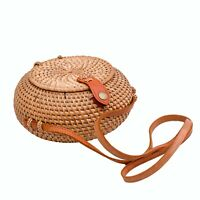 RATTAN BAG CYCLE JUMBO CROSSBODY/SUMMER BEACH STYLE HAND CRAFTED FROM BALI🍃