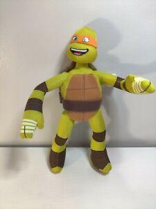 """Nickelodeon 2014 Teenage Mutant Ninja Turtles Michael 10"""" Tall TMNT Plush"""