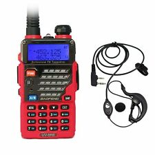 Baofeng UV-5RE Red Dual Band UHF/VHF 2 Way FM Ham Radio + UV-5R E Earpiece US