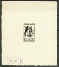 Tunisie Combattants War Veterans Epreuve Artiste Signee Signed Die Proof ** 1950
