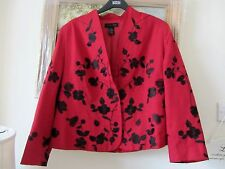 Red/black embroidered silk jacket Silk Land size XL fit size 16/18 BNWOT