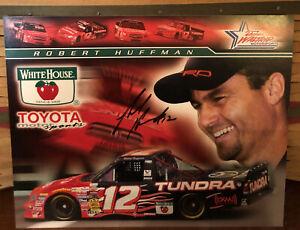 2005 ROBERT HUFFMAN WHITE HOUSE APPLE #12 NASCAR  TUNDRA TRUCK SIGNED POSTCARD