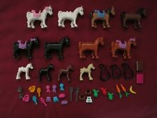 LEGO Friends Horse Minifigures Lot. Horses , Baby Horse ,Saddles ,accessories.