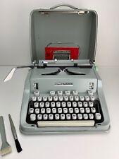 Antique Vintage Hermes 3000 Typewriter With Case, Manuel And Brushes WORKS!!!