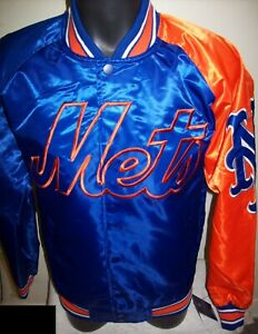 NEW YORK METS MLB STARTER Snap Down Jacket Sping/Summer BLUE/ORANGE