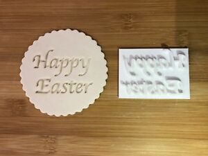 Embossing for cupcake and cake - stamps sugar paste HAPPY EASTER