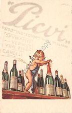 Cartolina - Postcard - Illustrata - Picvi - vino - angelo - Ditta Pugni e Coppo