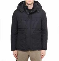 Piumino Uomo CP Company 091A004275A Field Jacket Cappuccio Giacca Nero Nuovo
