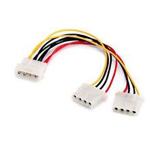 2 Power Supply splitter/extenders 1 male into 2 female Hard drive style Molex