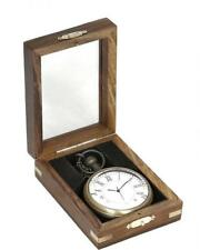 Brass Decorative Pocket Watch Clock In Clear Display Case Offer!