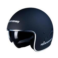 Marushin C 139 casco JET Vintage Monocolor negro mate S