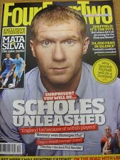 01/12/2011 FourFourTwo football magazine: Number 210-Paul Scholes on cover. Fo