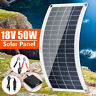 50W 18V  USB Flexible Solar Panel Polysilicon Battery Charger Cell Kit Car Boat