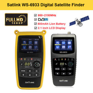 Portable Satlink WS-6933 FTA DVB-S2 Digital Satellite SAT Finder 950-2150MHz